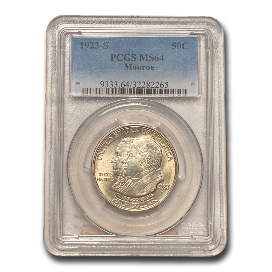 1923-S Monroe Doctrine Commem Half Dollar MS-64 PCGS