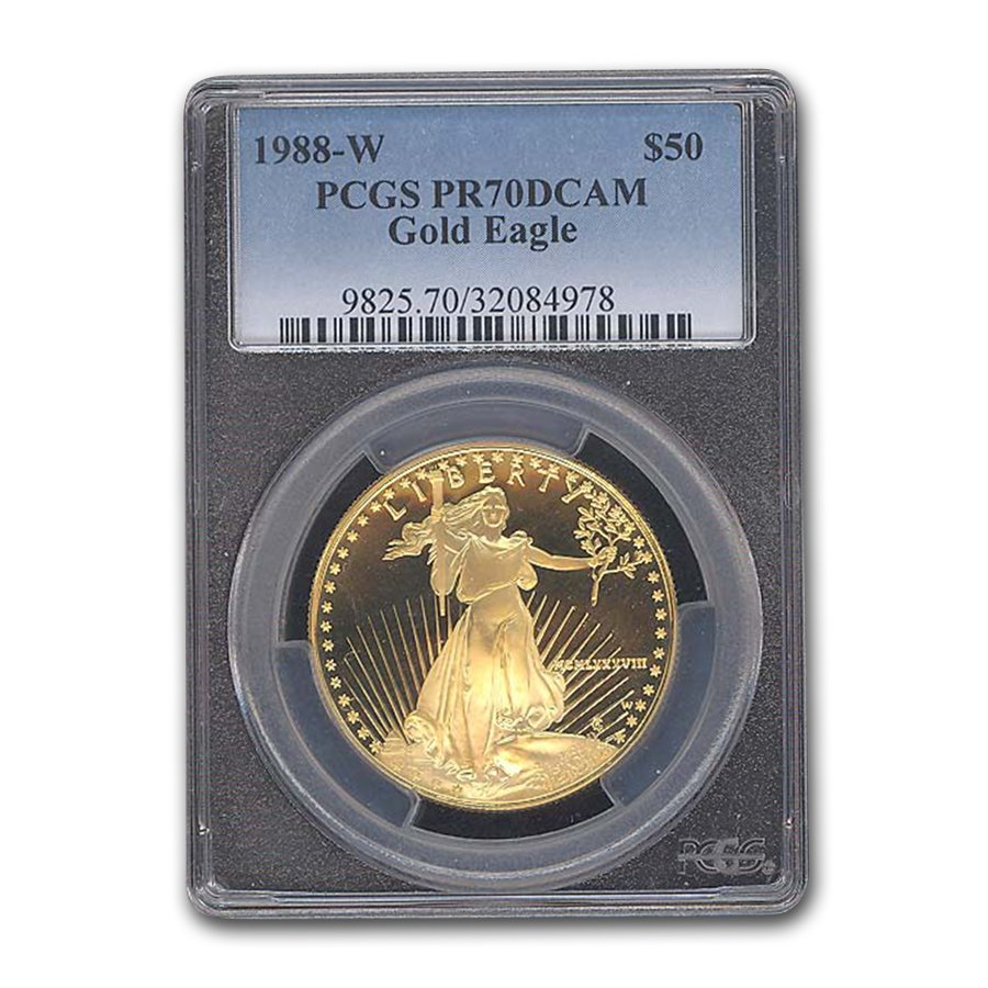 1988-W 1 oz Proof Gold American Eagle PR-70 PCGS