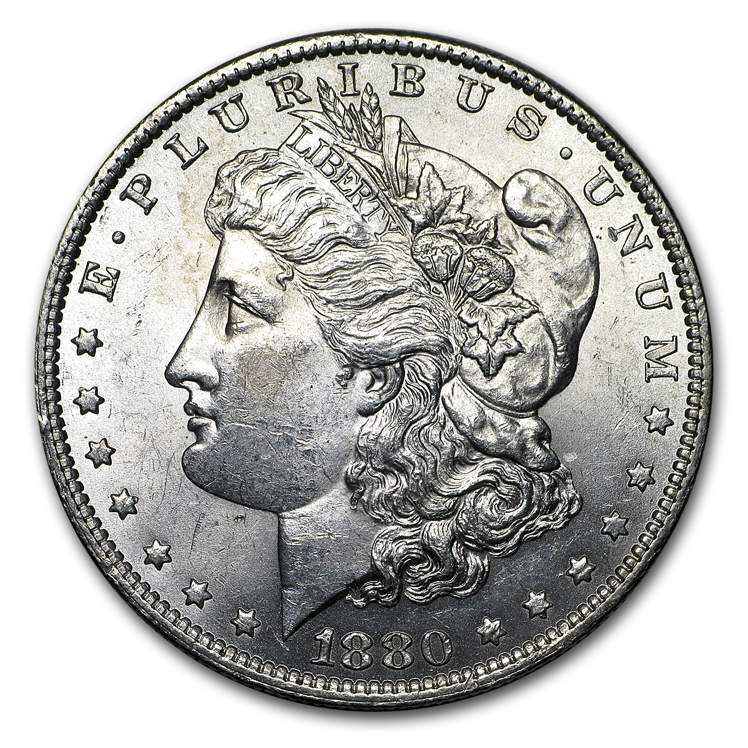 1880-O Morgan Dollar AU-58