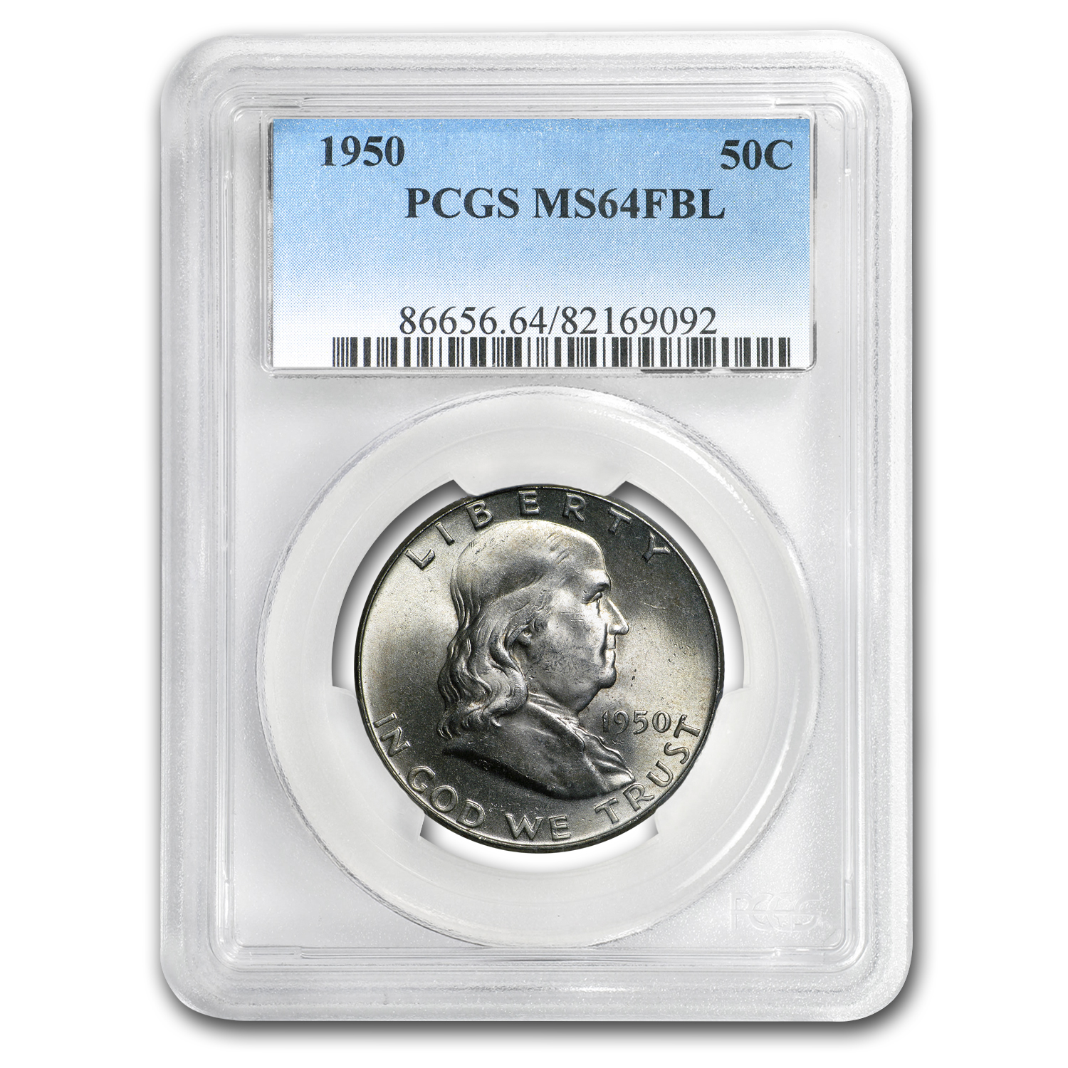 1950 Franklin Half Dollar MS-64 PCGS (FBL)