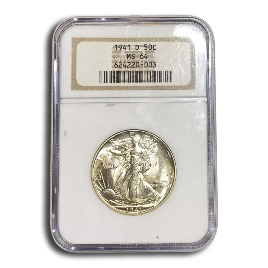 1941-D Walking Liberty Half Dollar MS-64 NGC