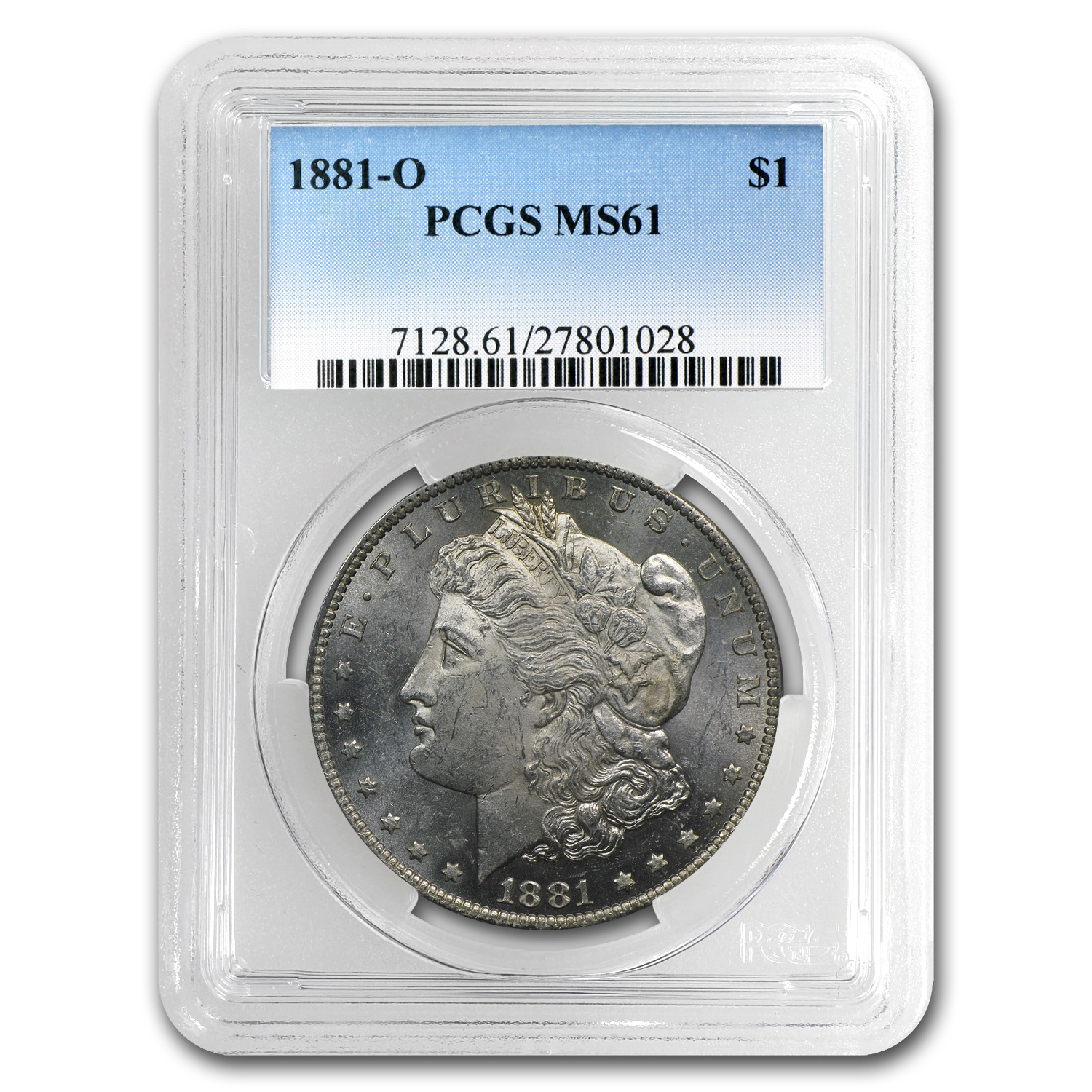 1878-1904 Morgan Dollars - MS-61 PCGS