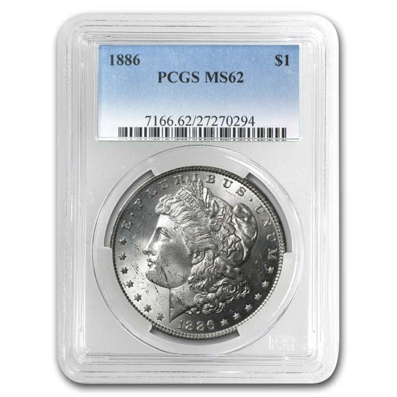1878-1904 Morgan Dollars - MS-62 PCGS