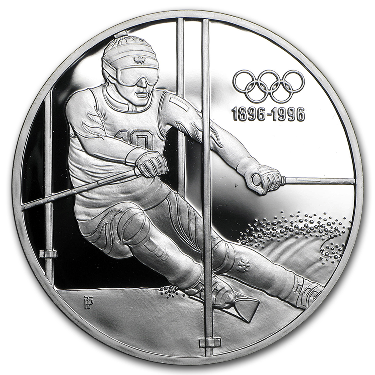 1995 Austria Silver 200 Schillings Olympics Proof