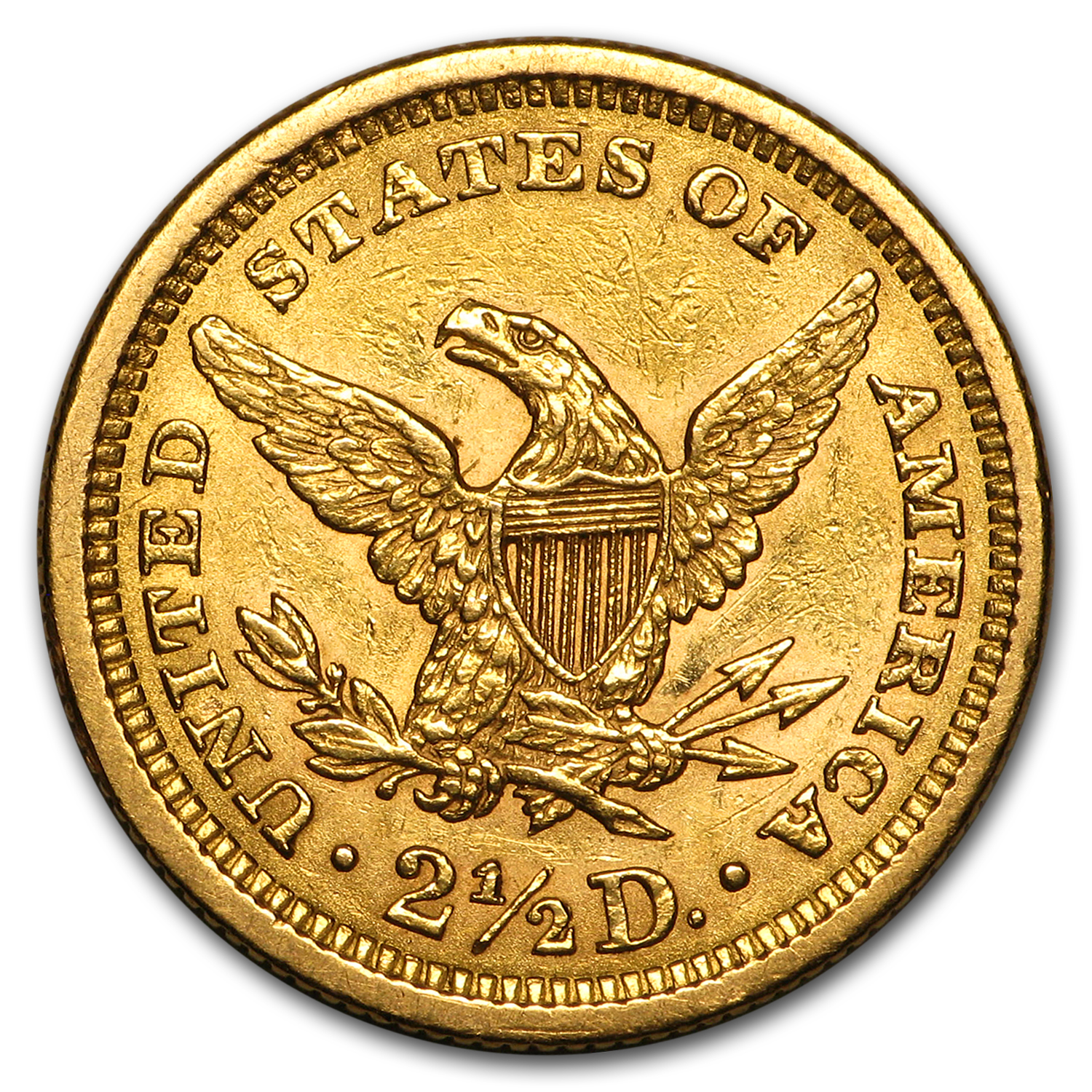 1861 $2.50 Liberty Gold Quarter Eagle AU