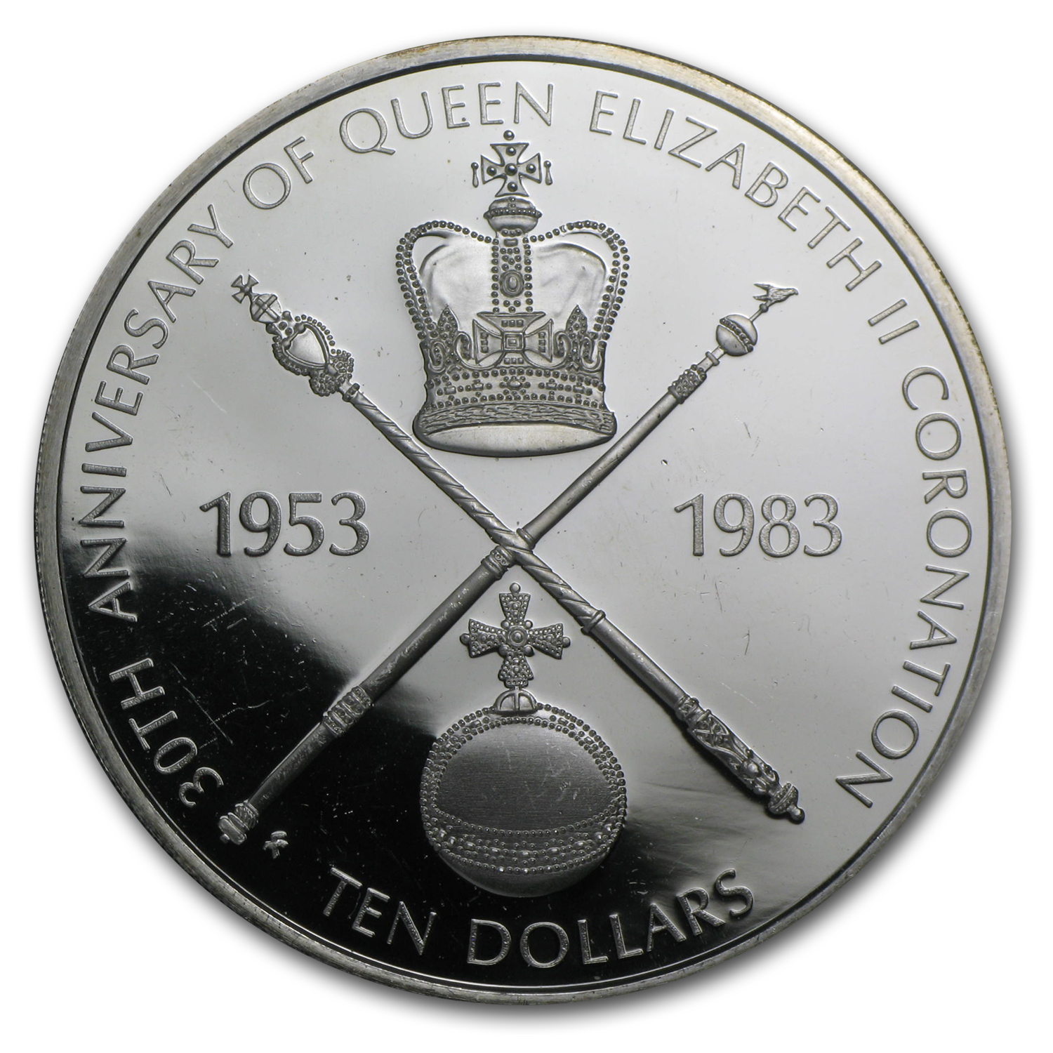 British Virgin Islands 1983 Silver $10 Proof - Coronation