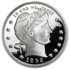 2 oz Silver Round - Barber Quarter Dollar (Replica)