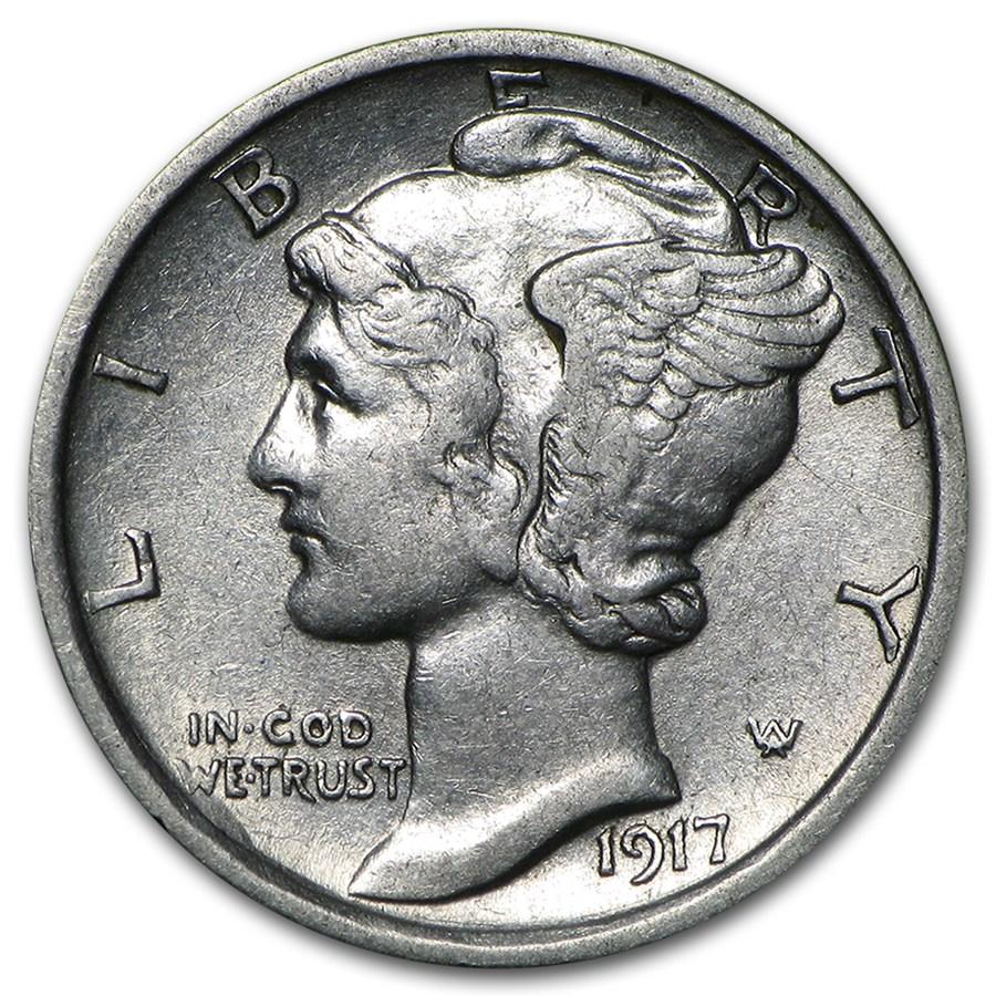 1917 d mercury dime au mercury dimes 1916 1945 apmex for Mercerie nimes