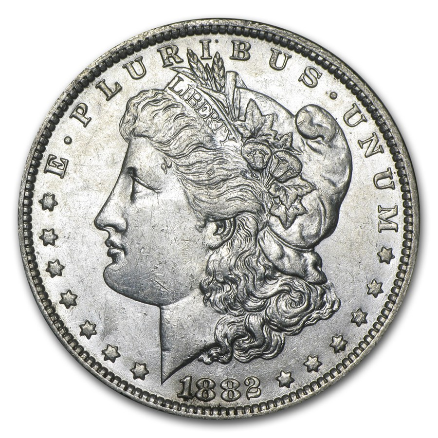 1882 O S Morgan Dollar Au 58 Silver Prices