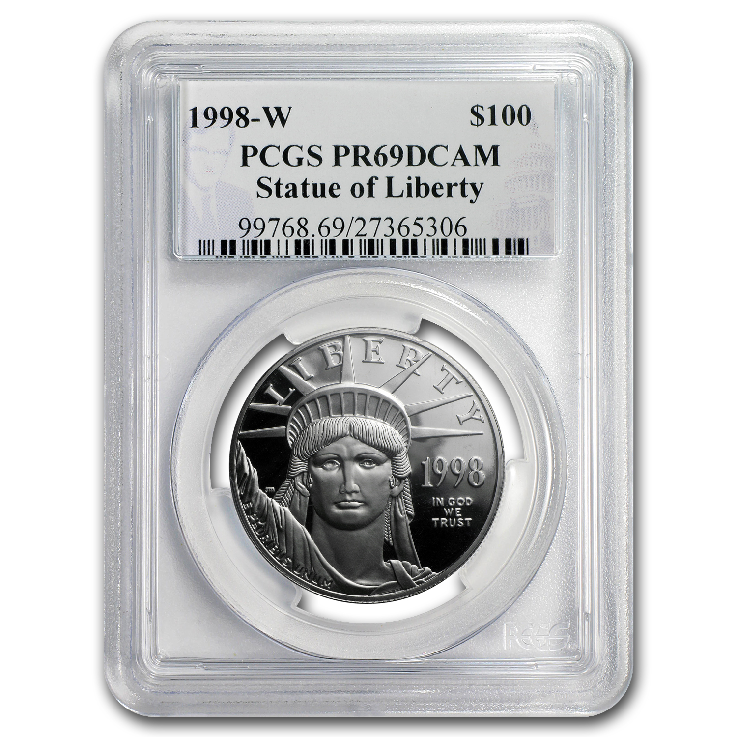 1998-W 1 oz Proof Platinum American Eagle PR-69 PCGS