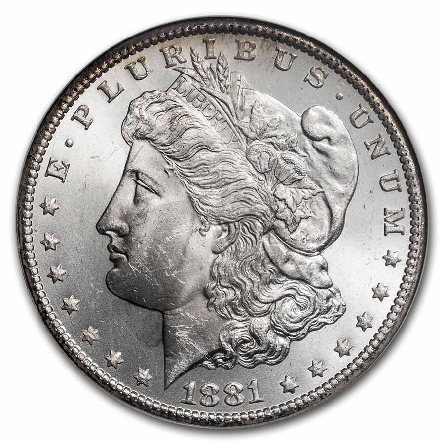 1881-CC Morgan Dollar MS-63 NGC