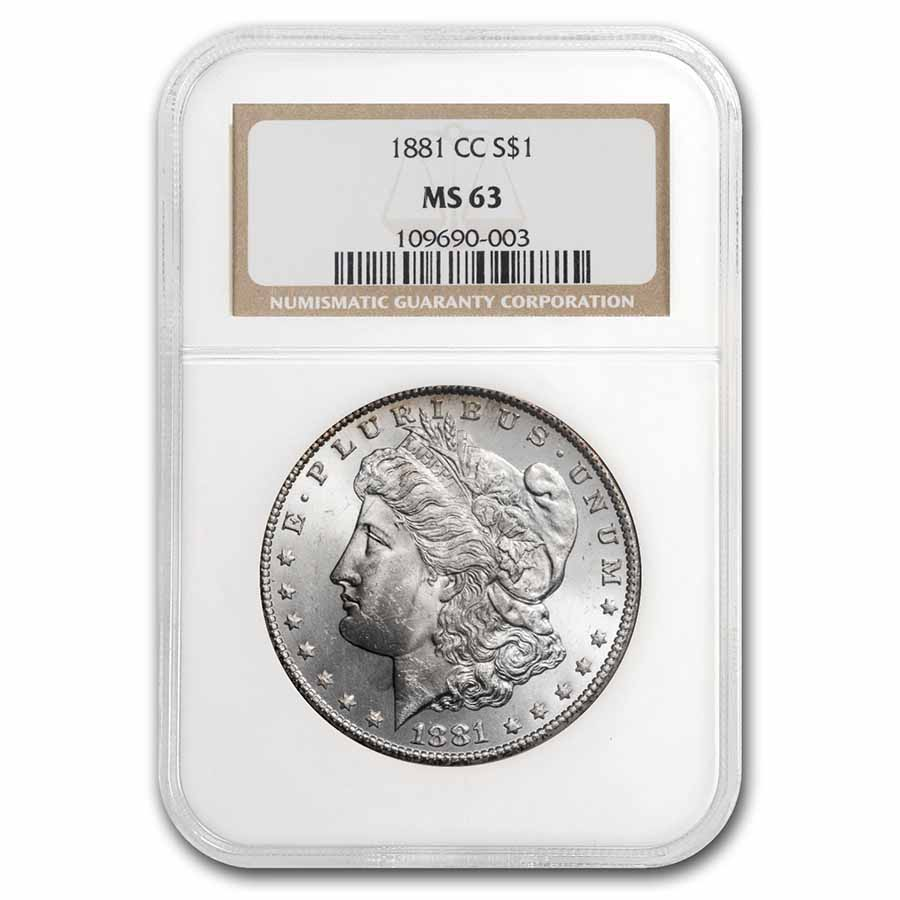 1881-CC Morgan Dollar - MS-63 NGC