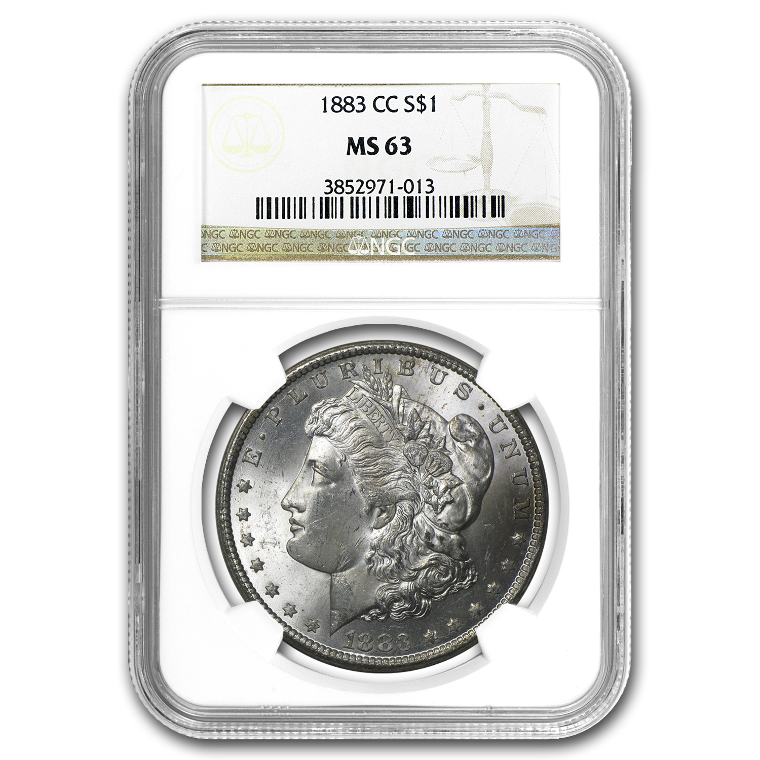 1883-CC Morgan Dollar MS-63 NGC
