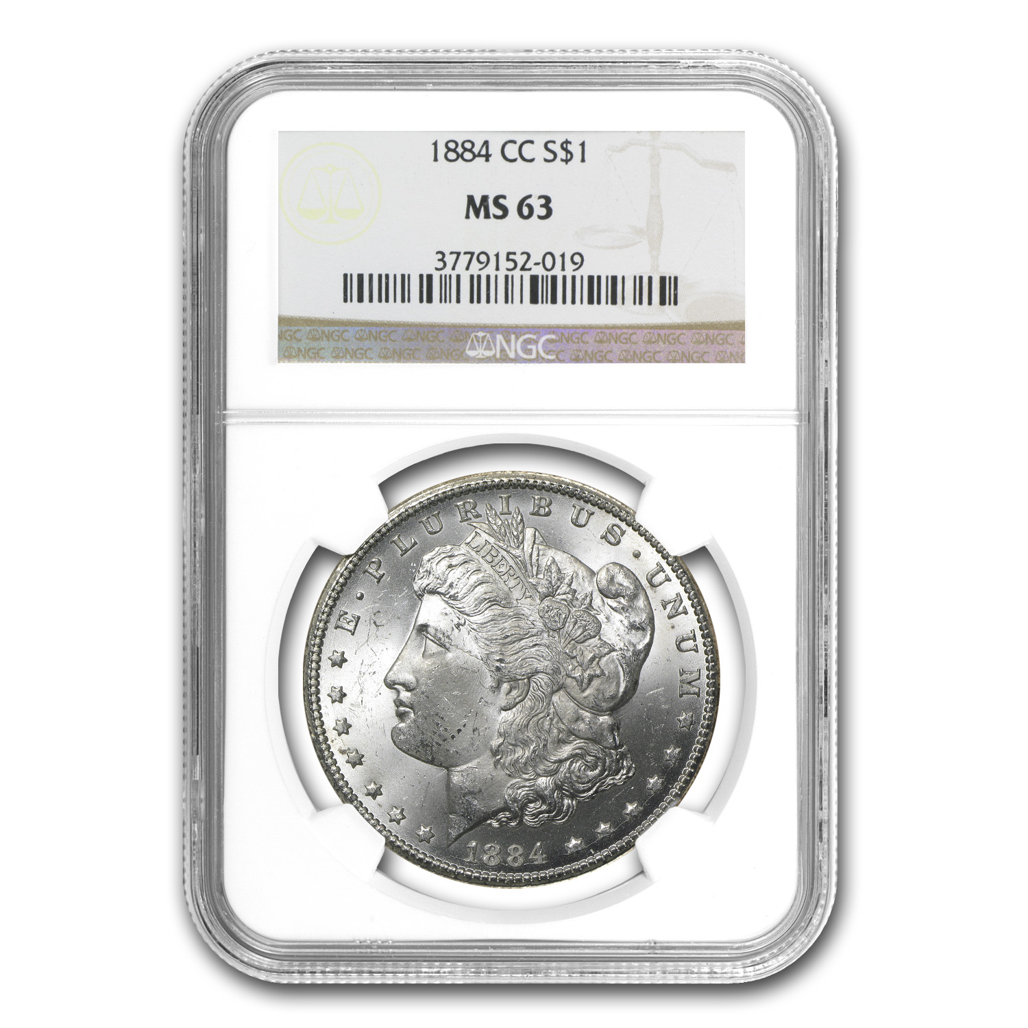 1884-CC Morgan Dollar MS-63 NGC