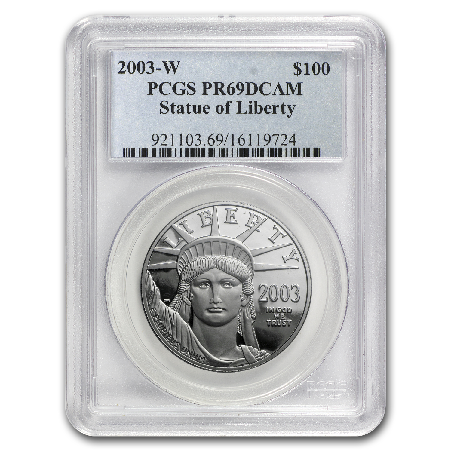 2003-W 1 oz Proof Platinum American Eagle PR-69 PCGS