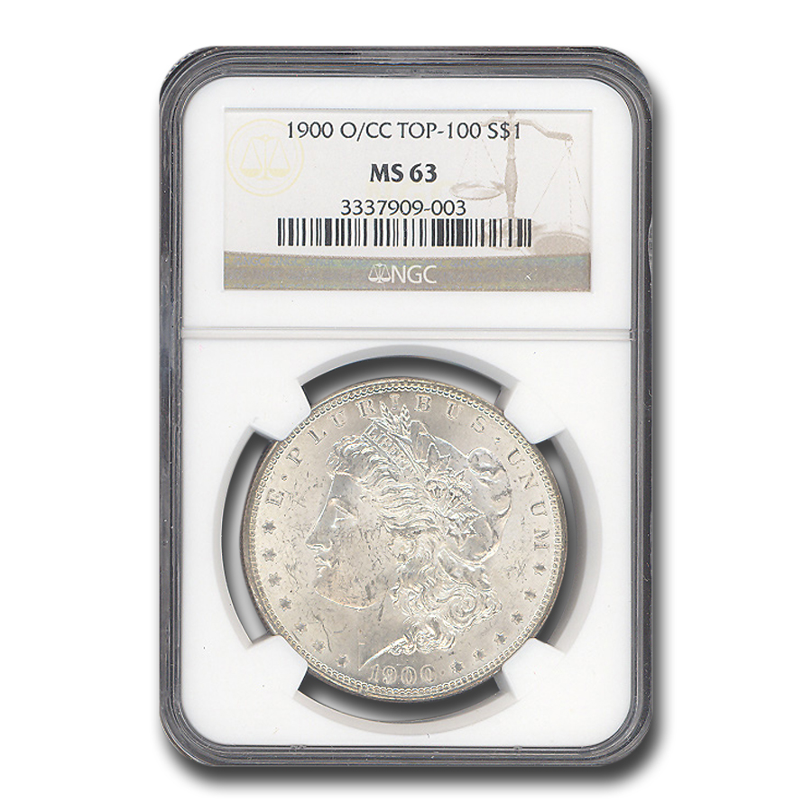 1900-O/CC Morgan Dollar - MS-63 NGC O/CC Top-100