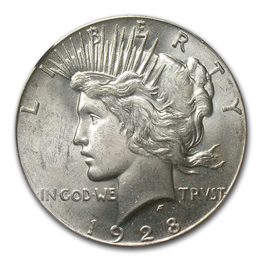 1928 Peace Dollar MS-64 NGC (Key Date)