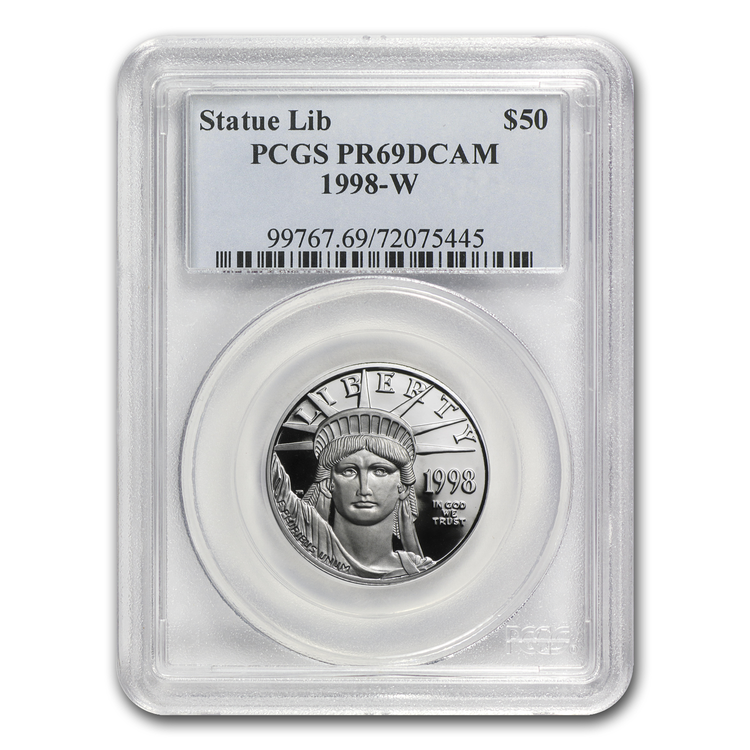 1998-W 1/2 oz Proof Platinum American Eagle PR-69 PCGS DCAM