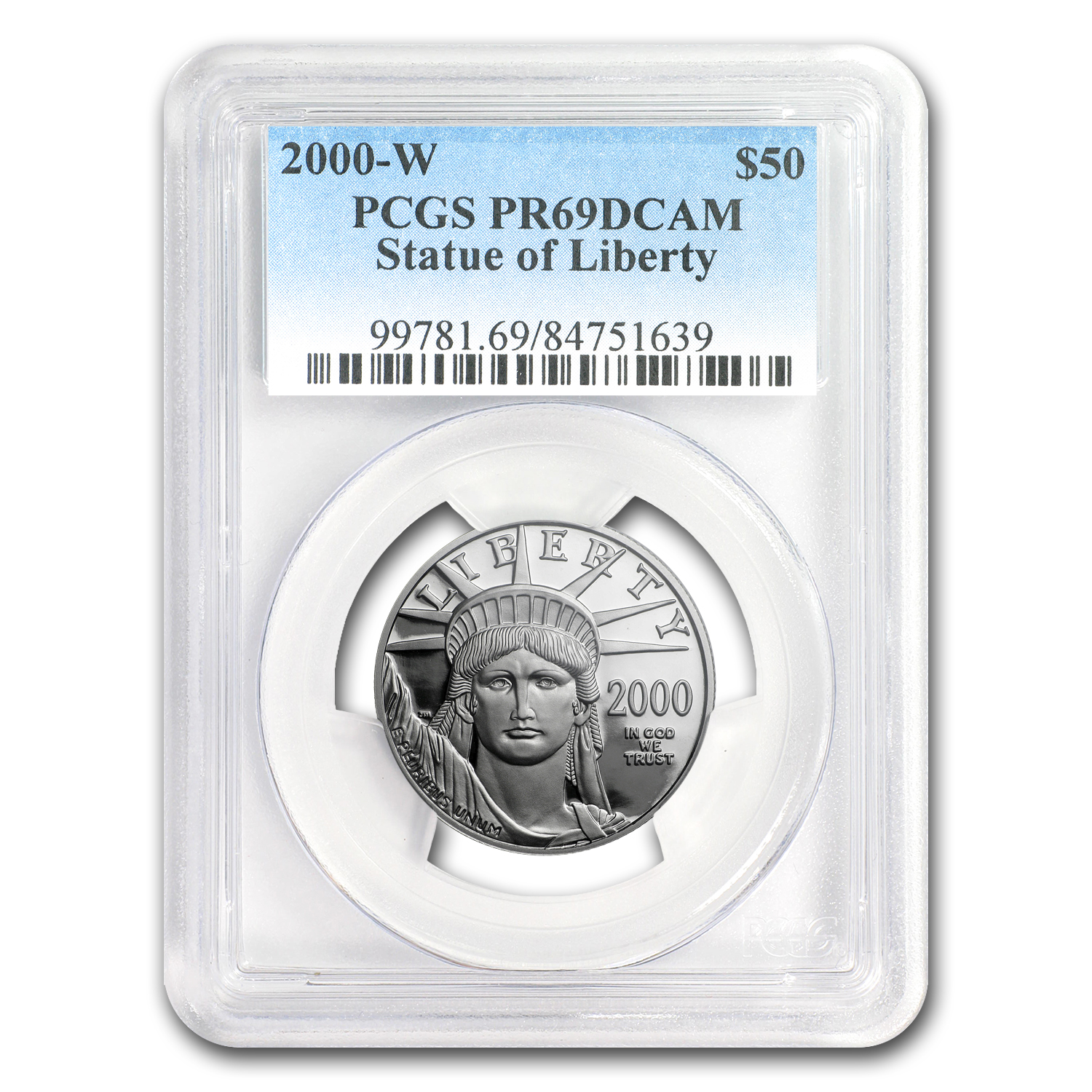 2000-W 1/2 oz Proof Platinum American Eagle PR-69 PCGS