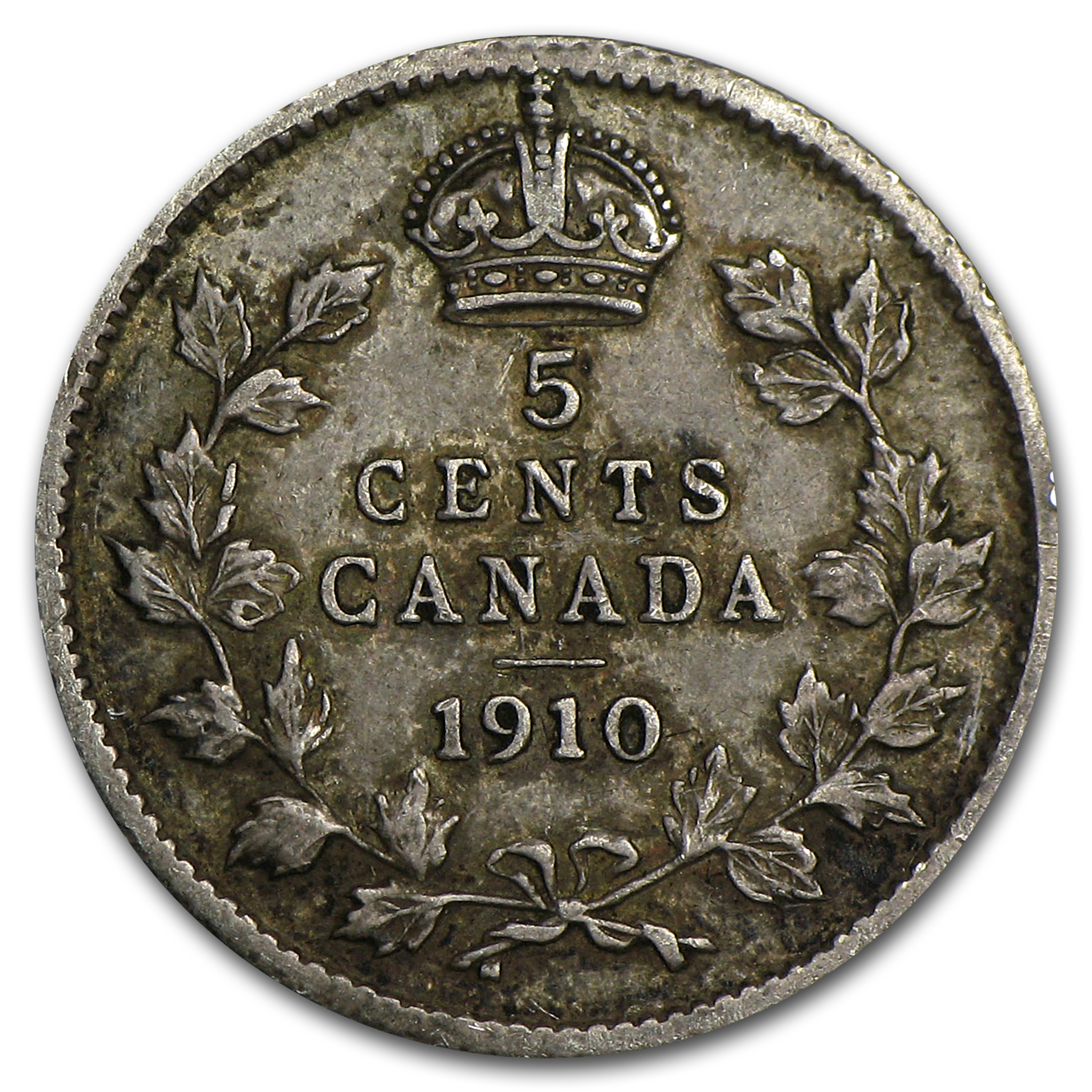 1910 Canada 5 Cents XF