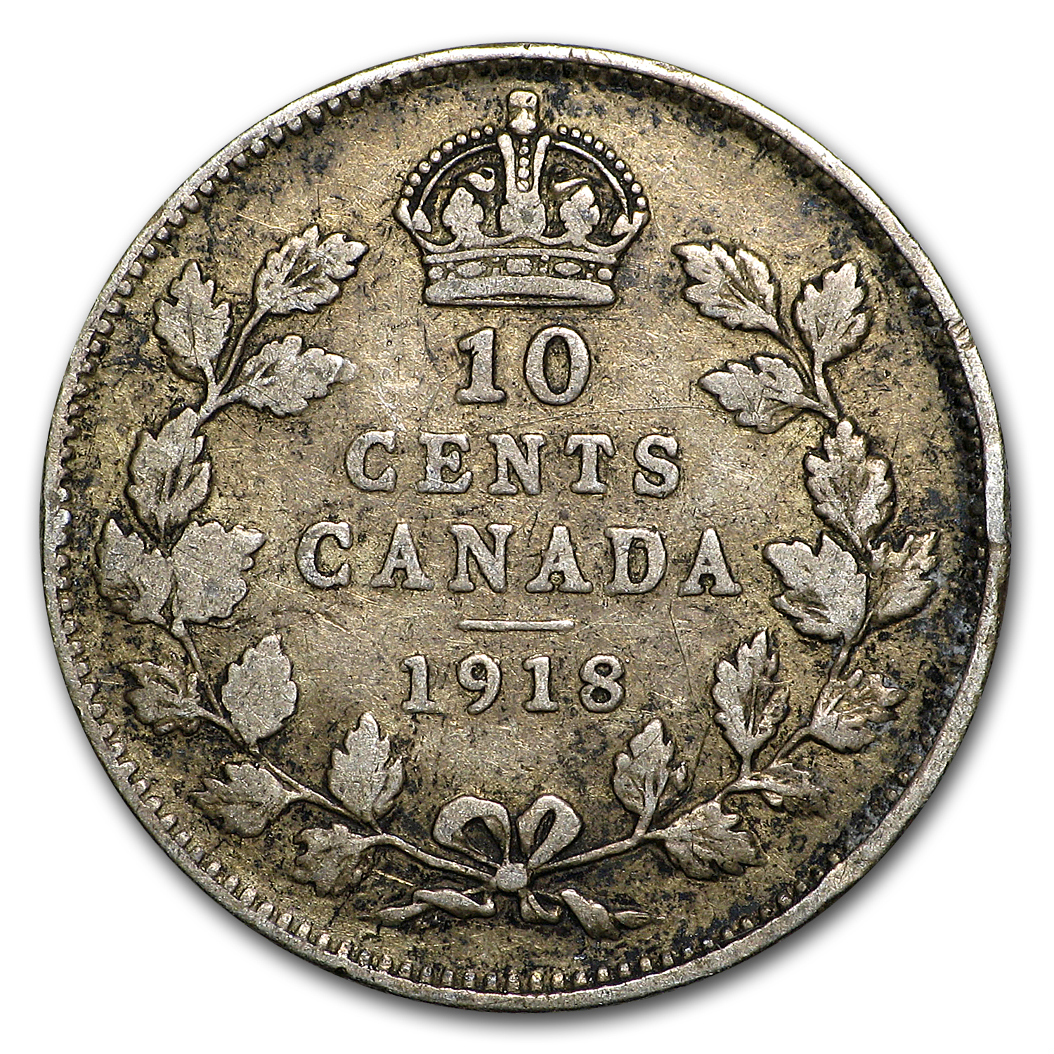 Canada Silver 10 Cents Avg Circ (Random Years)