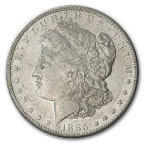 1885-S Morgan Dollar - Almost Uncirculated