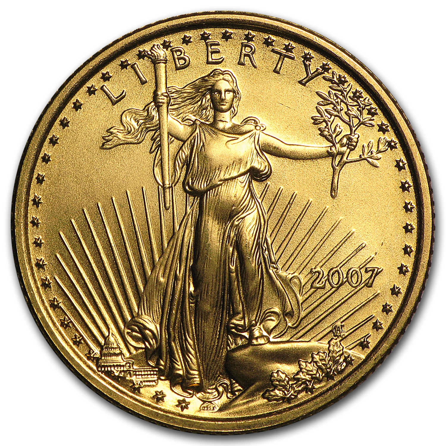 2007 1/4 oz Gold American Eagle BU