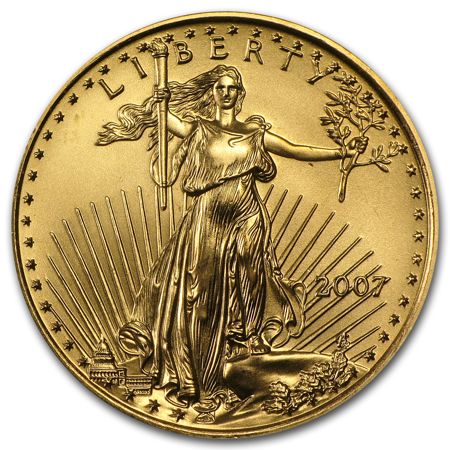 2007 1/2 oz Gold American Eagle BU