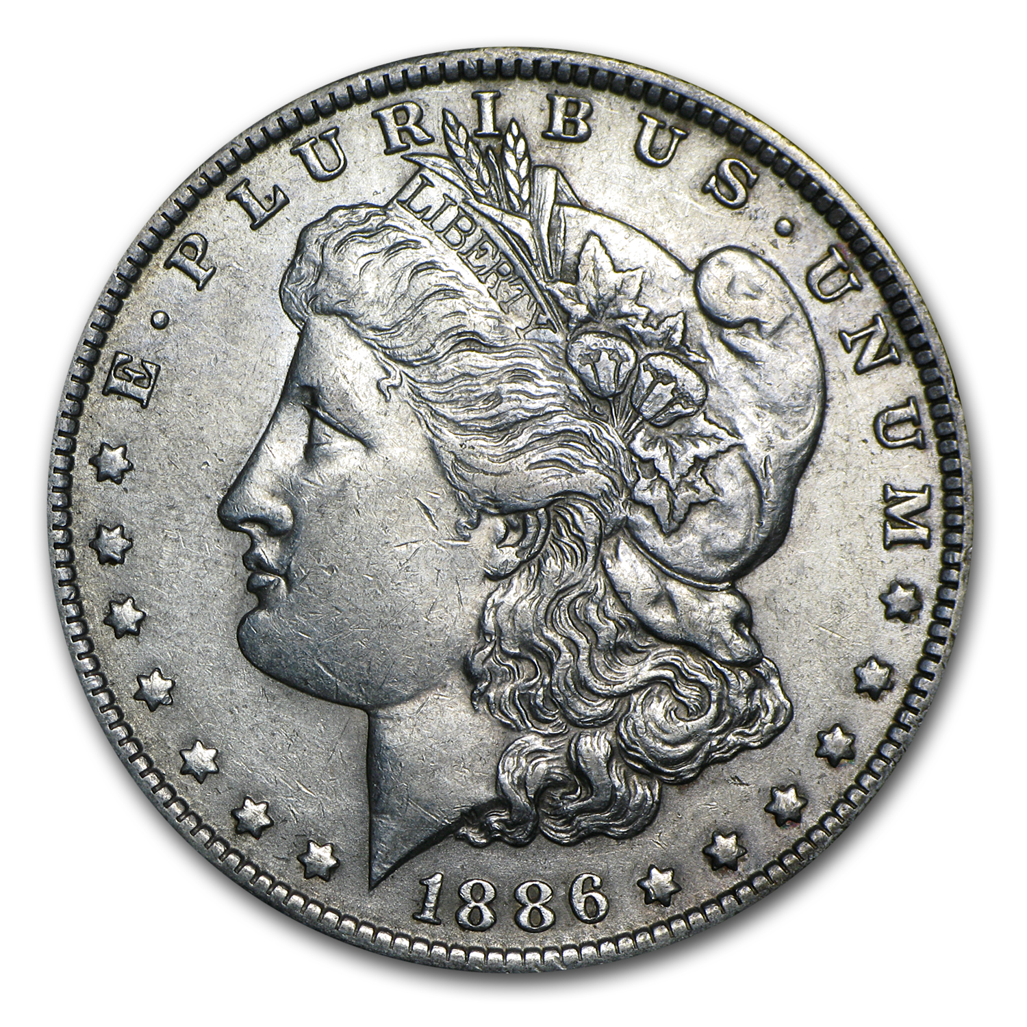 1886-O Morgan Dollar AU-50