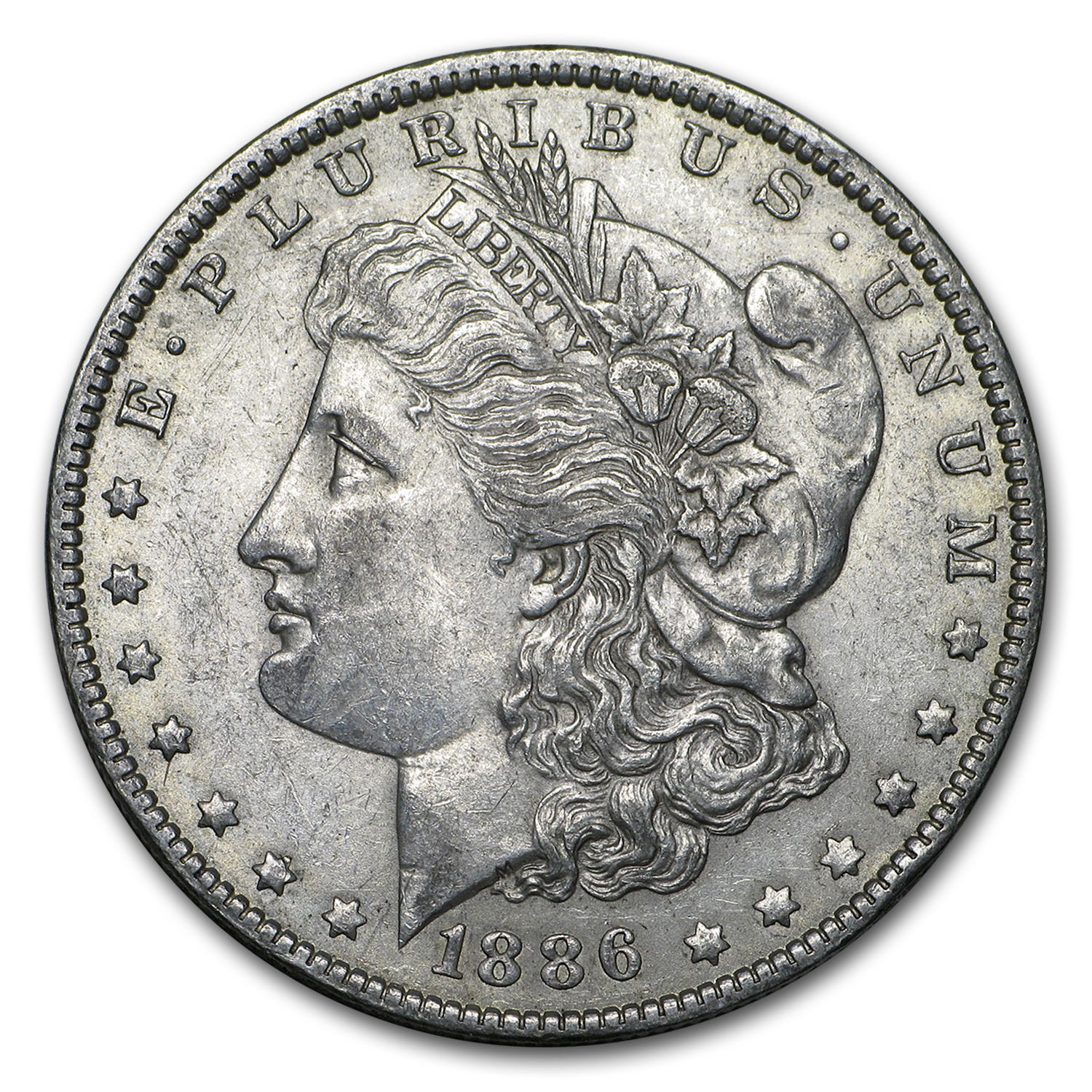 1886-O Morgan Dollar AU-55