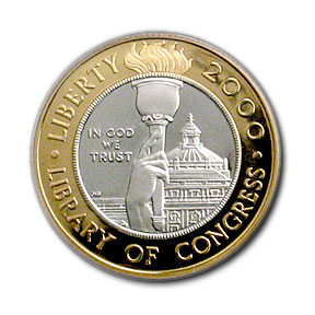 2000-W Gold $10 Commem Library of Congress PR-69 PCGS