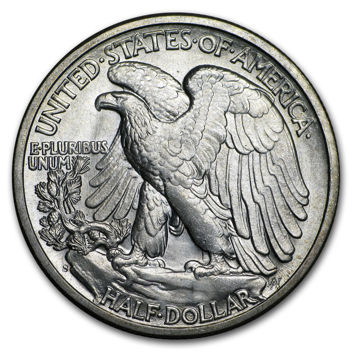 1944-S Walking Liberty Half Dollar BU