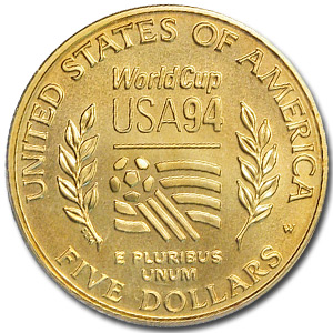 1994-W Gold $5 Commemorative World Cup MS-70 PCGS