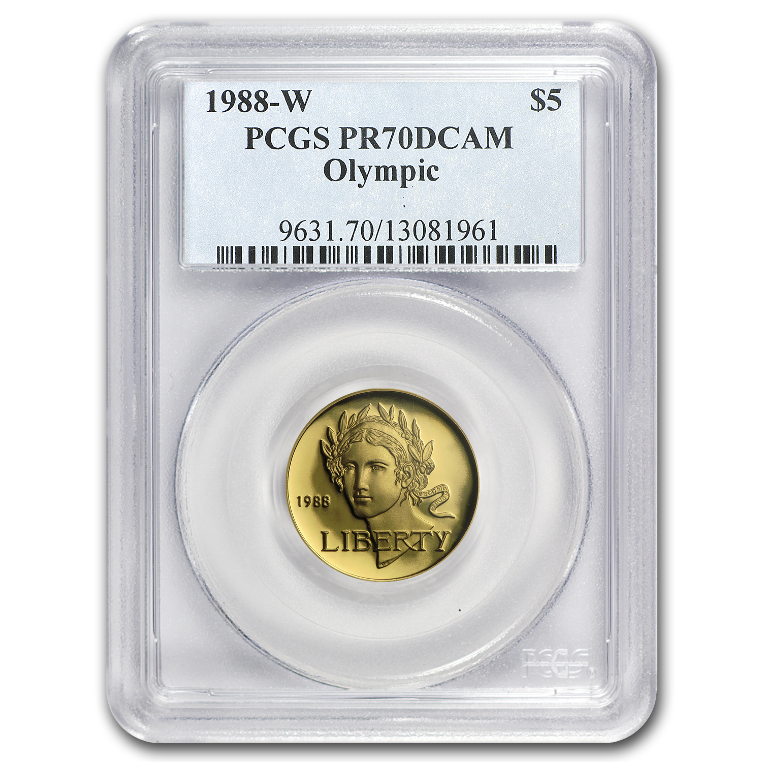 1988-W Gold $5 Commem Olympic PR-70 PCGS
