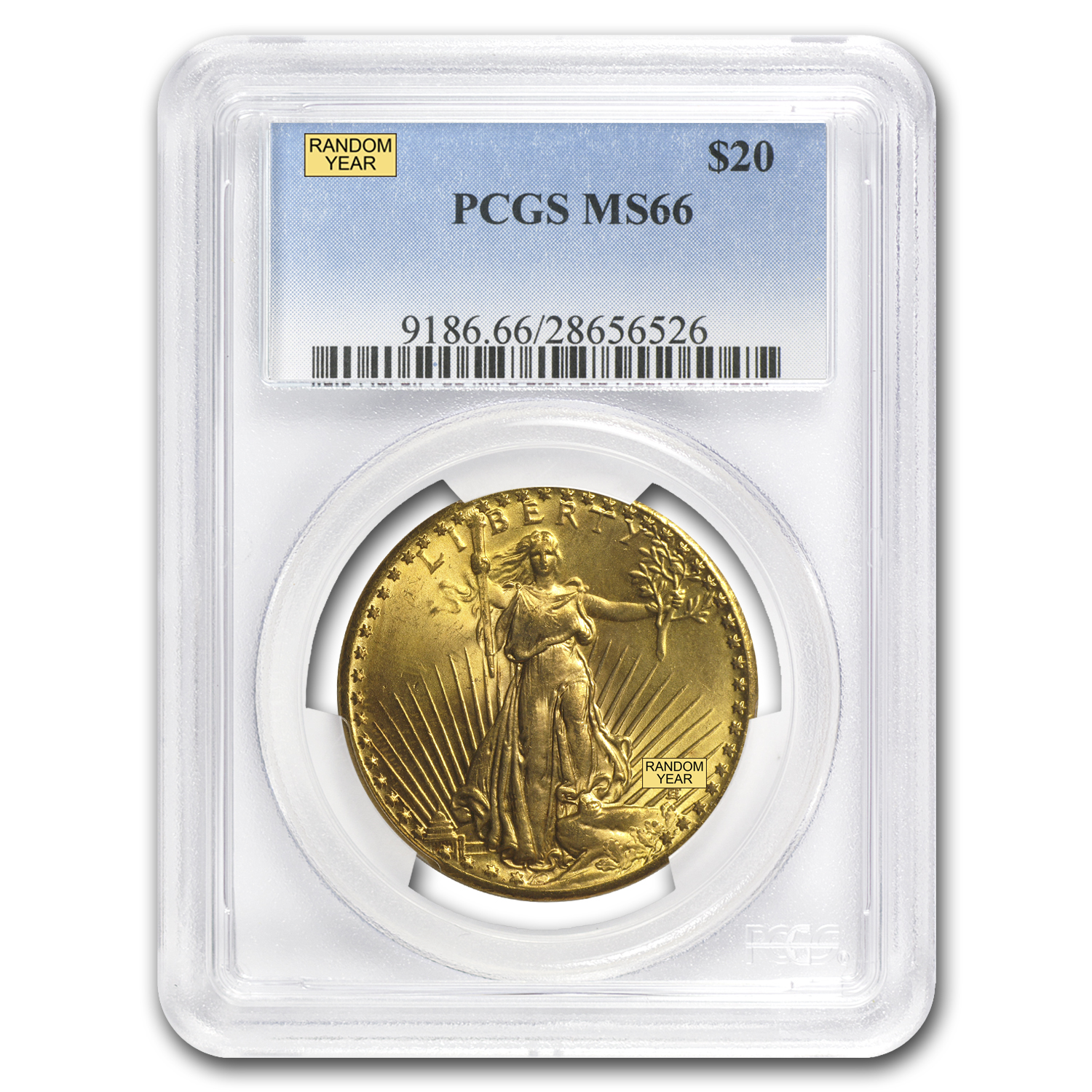 $20 Saint-Gaudens Gold Double Eagle - MS-66 PCGS