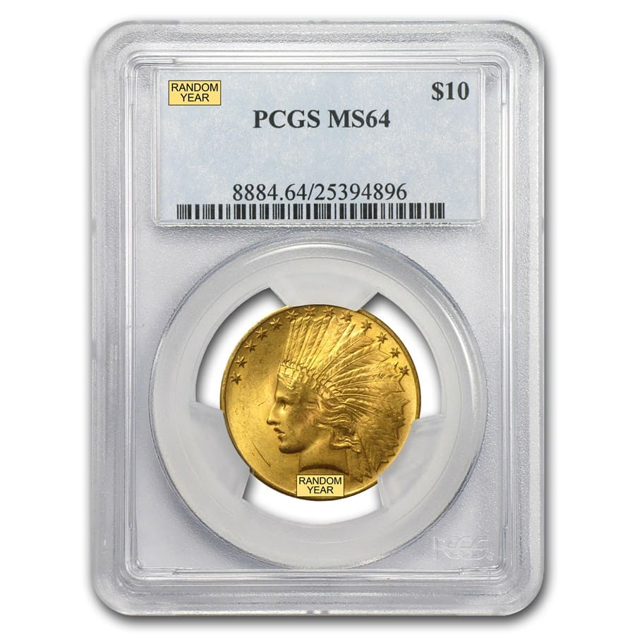 $10 Indian Gold Eagle - MS-64 PCGS