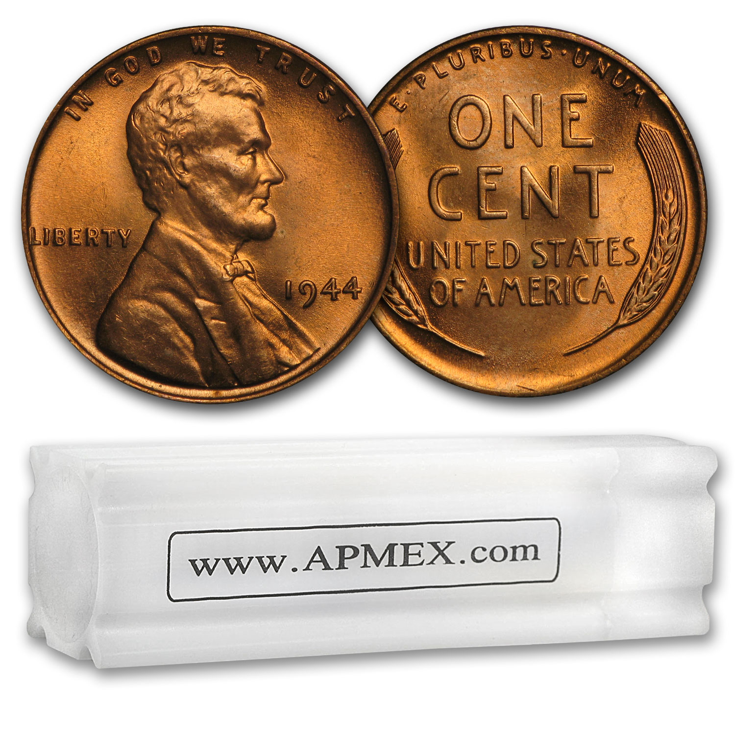 1944 Lincoln Cent 50-Coin Roll BU