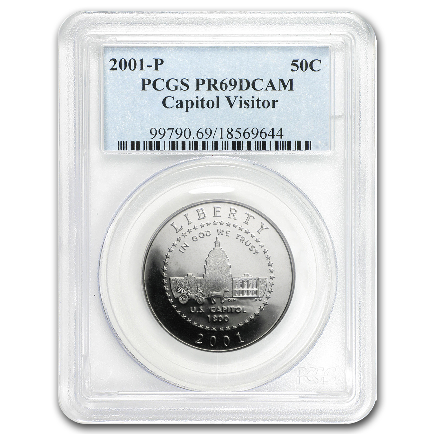 2001-P Capitol Visitor Center 1/2 Dollar Clad Commem PR-69 PCGS