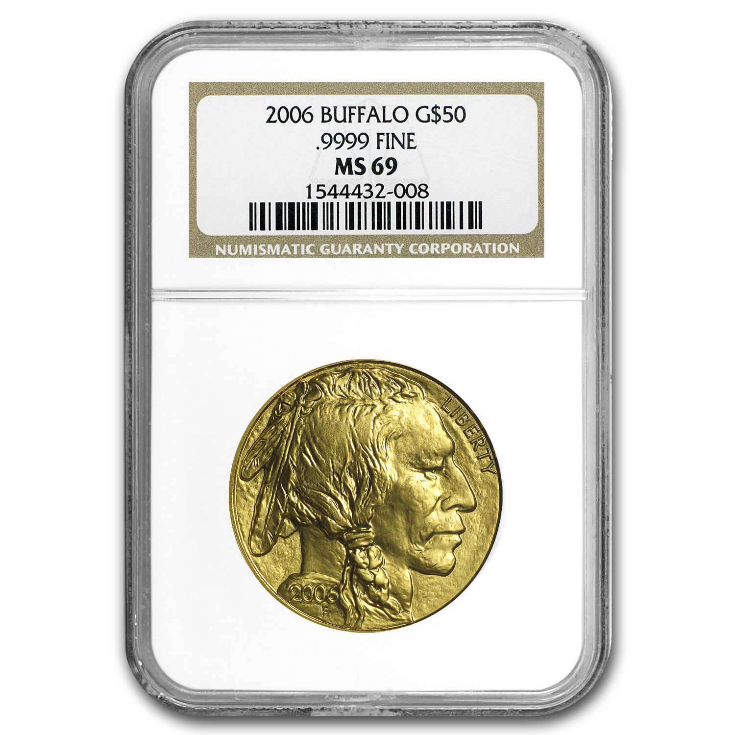 2006 1 oz Gold Buffalo MS-69 NGC