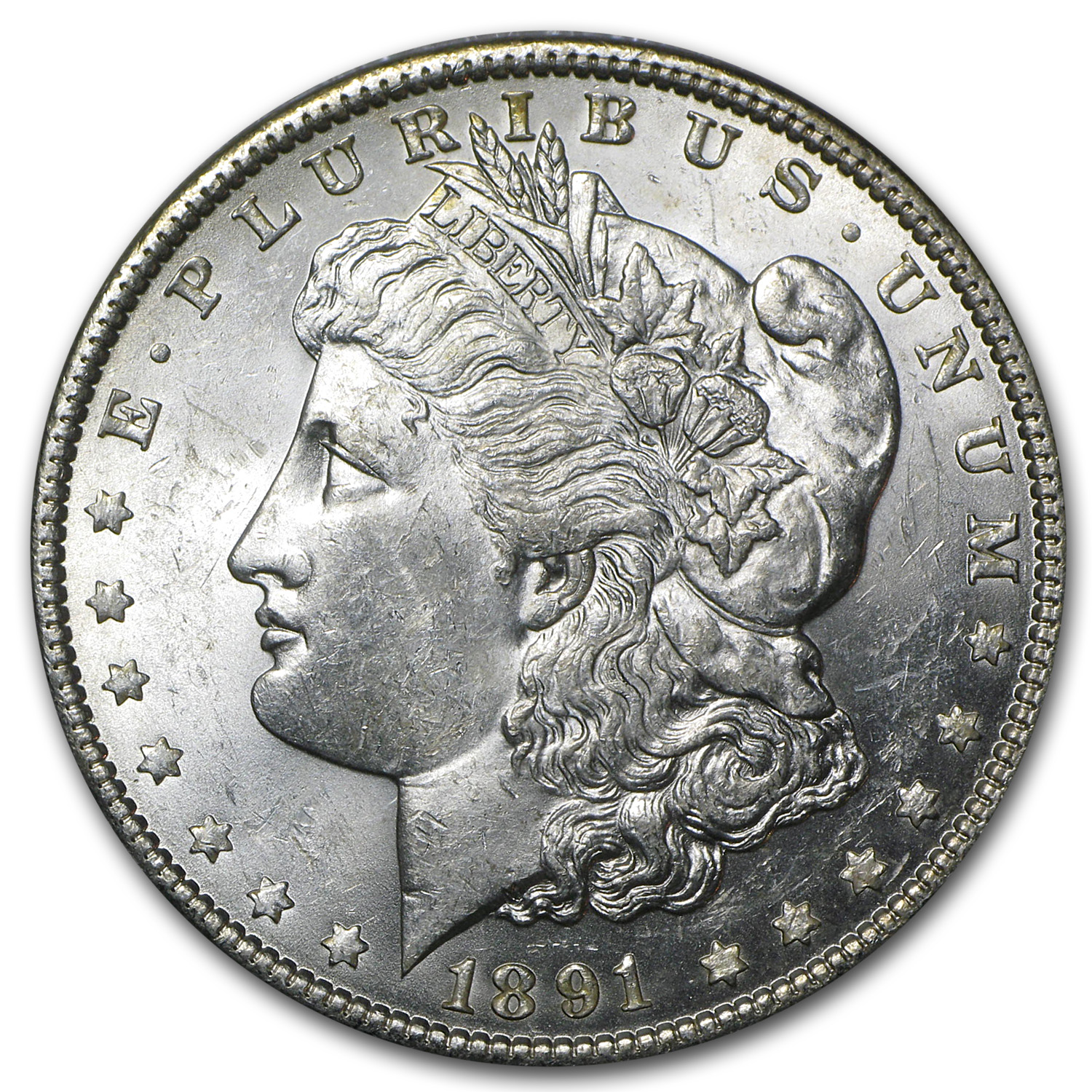 1891 Morgan Dollar BU