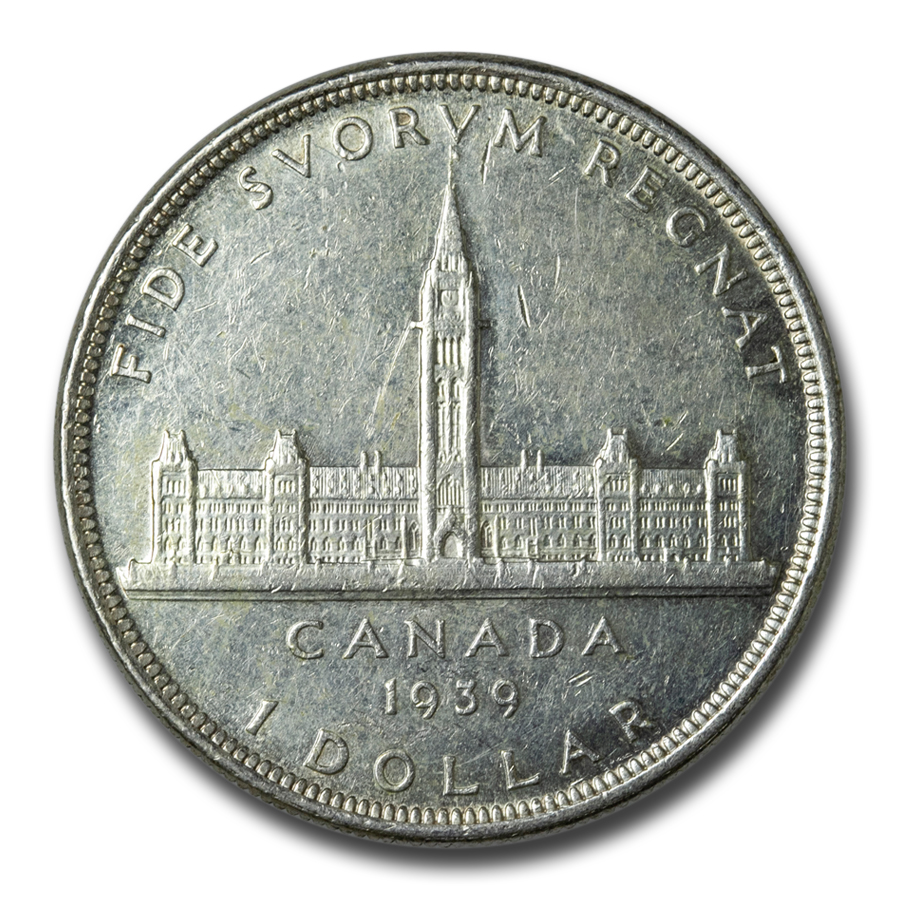 1939 Silver Canadian Dollar (Almost Uncirculated)