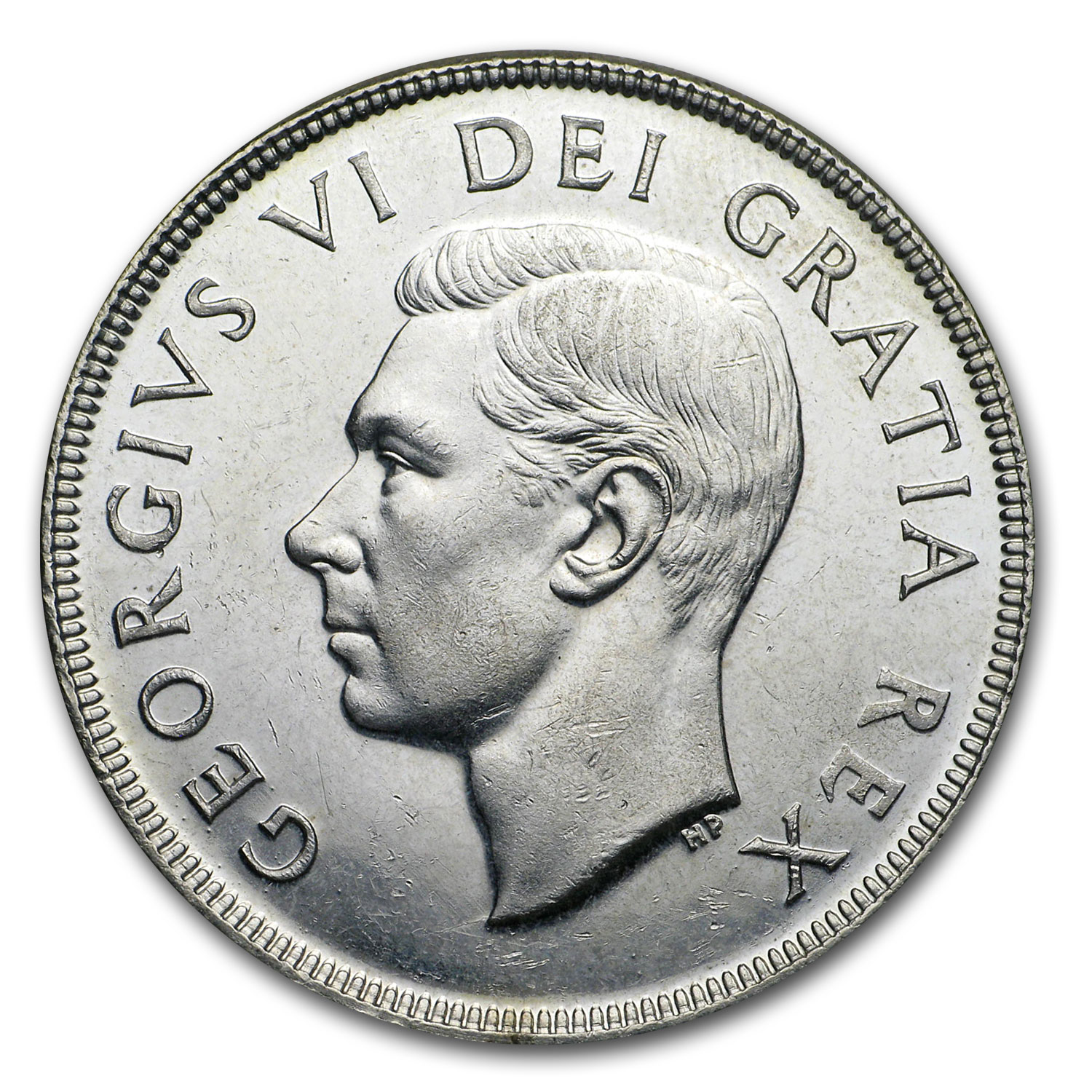 Canada 1950 1 Dollar Almost Uncirculated