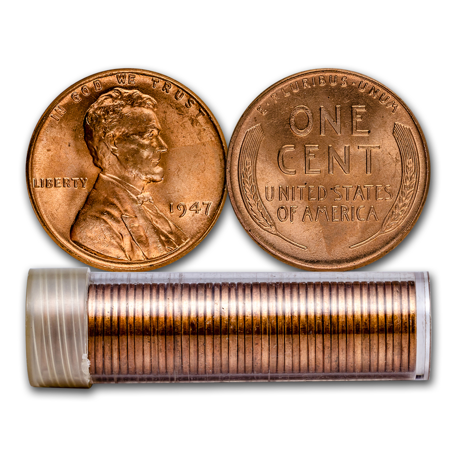 1947 Lincoln Cent 50-Coin Roll BU