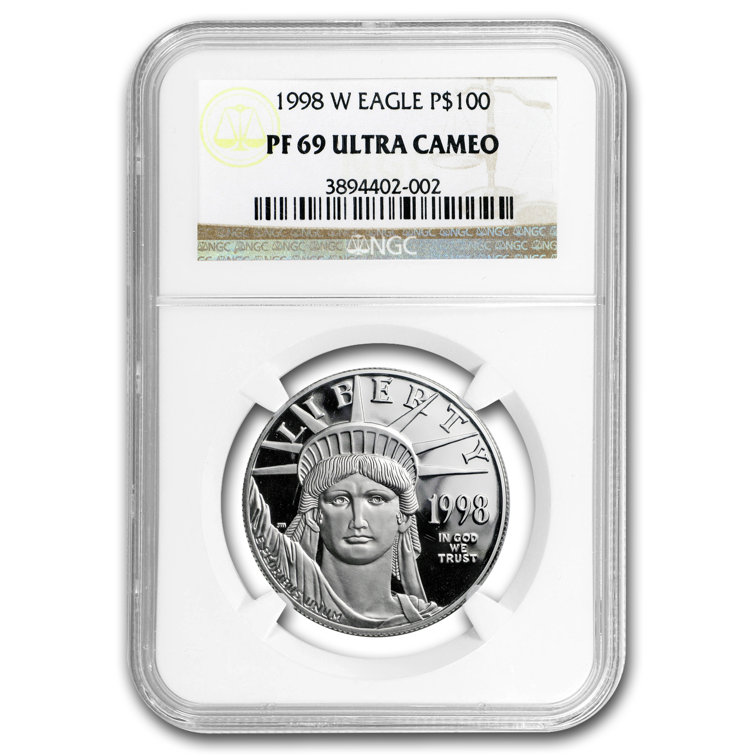 1998-W 1 oz Proof Platinum American Eagle PF-69 NGC