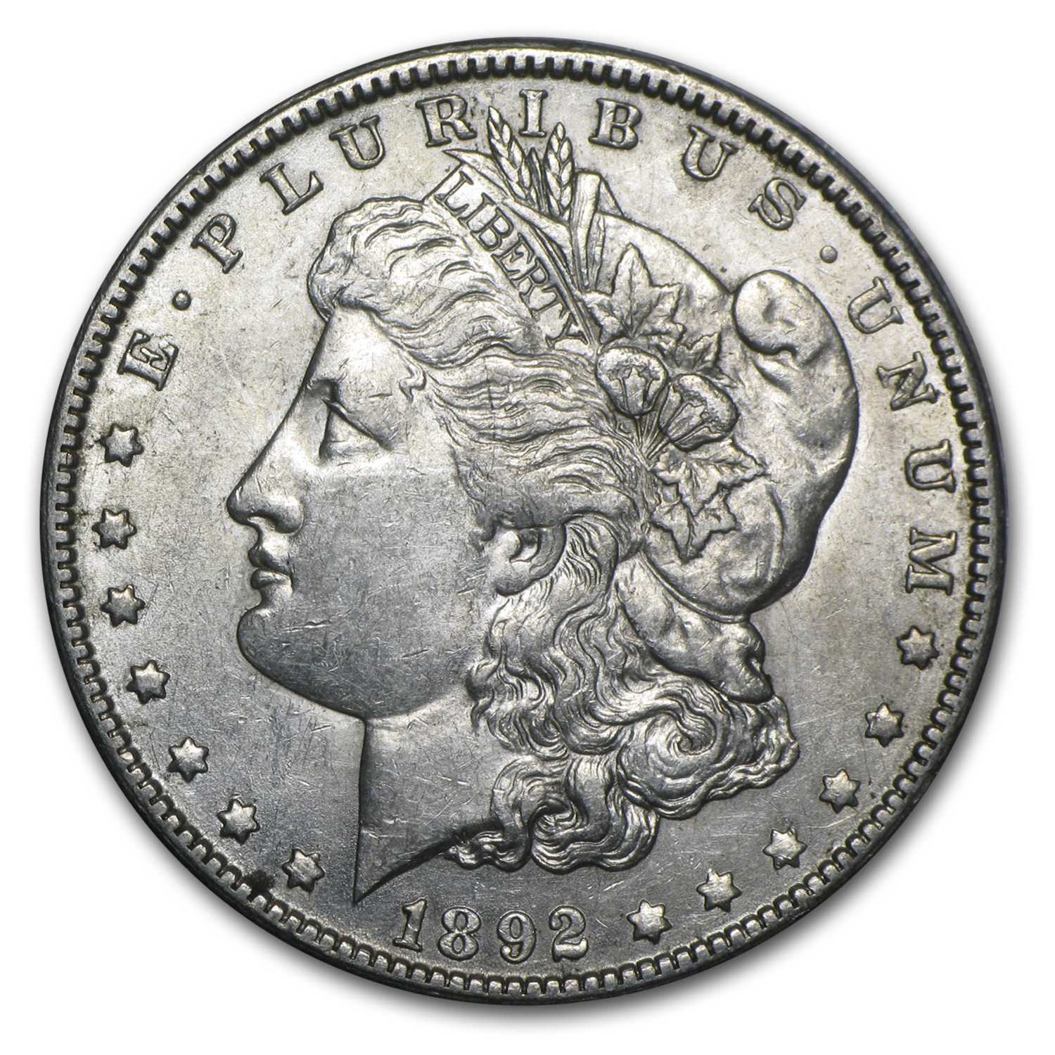 1892-O Morgan Dollar AU-50