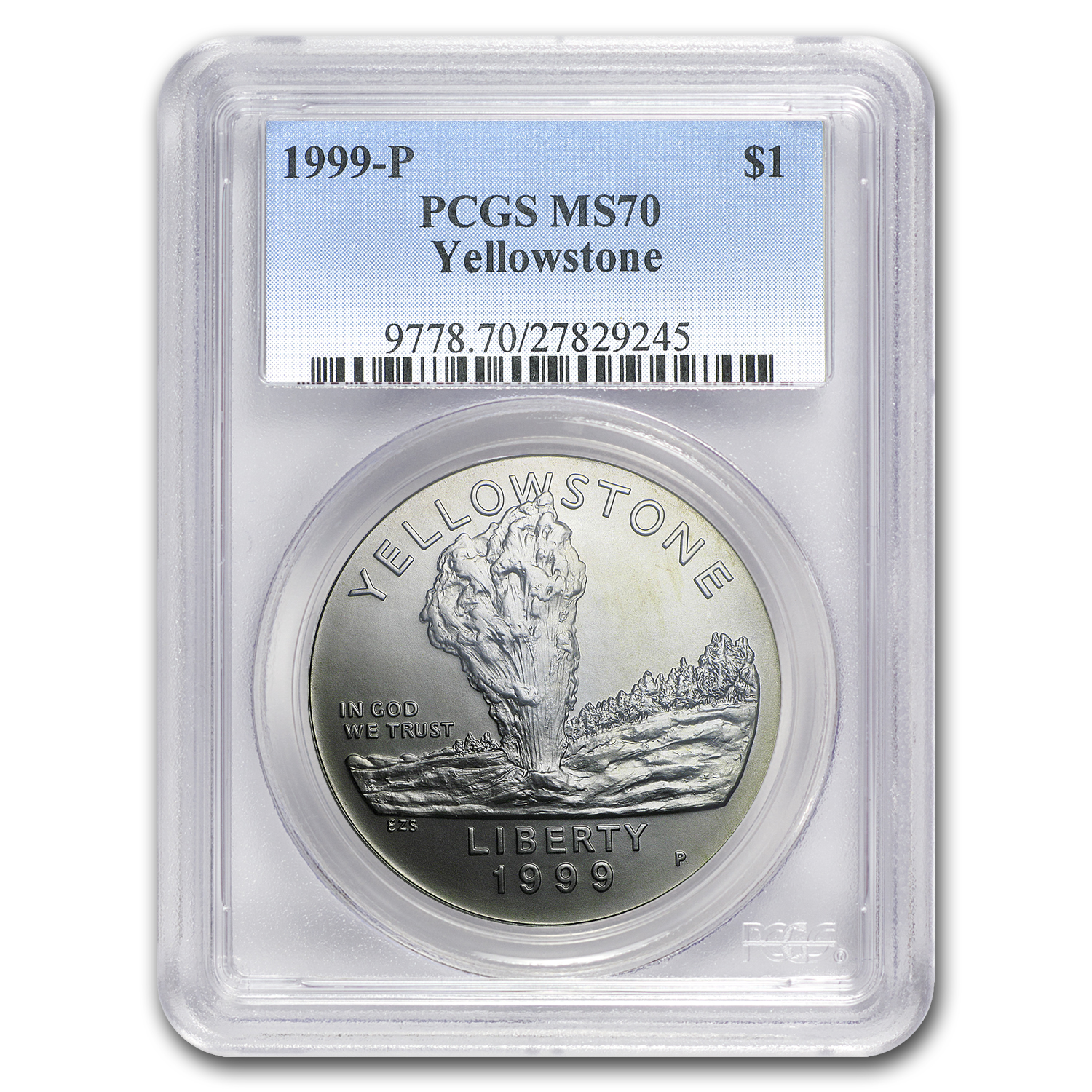 1999-P Yellowstone Park $1 Silver Commemorative MS-70 PCGS
