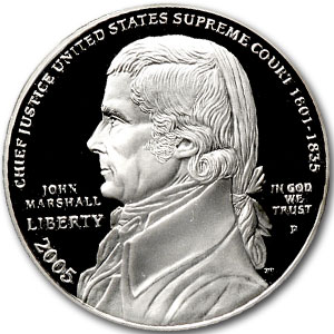 2005-P Chief Justice Marshall $1 Silver Commem PR-70 PCGS