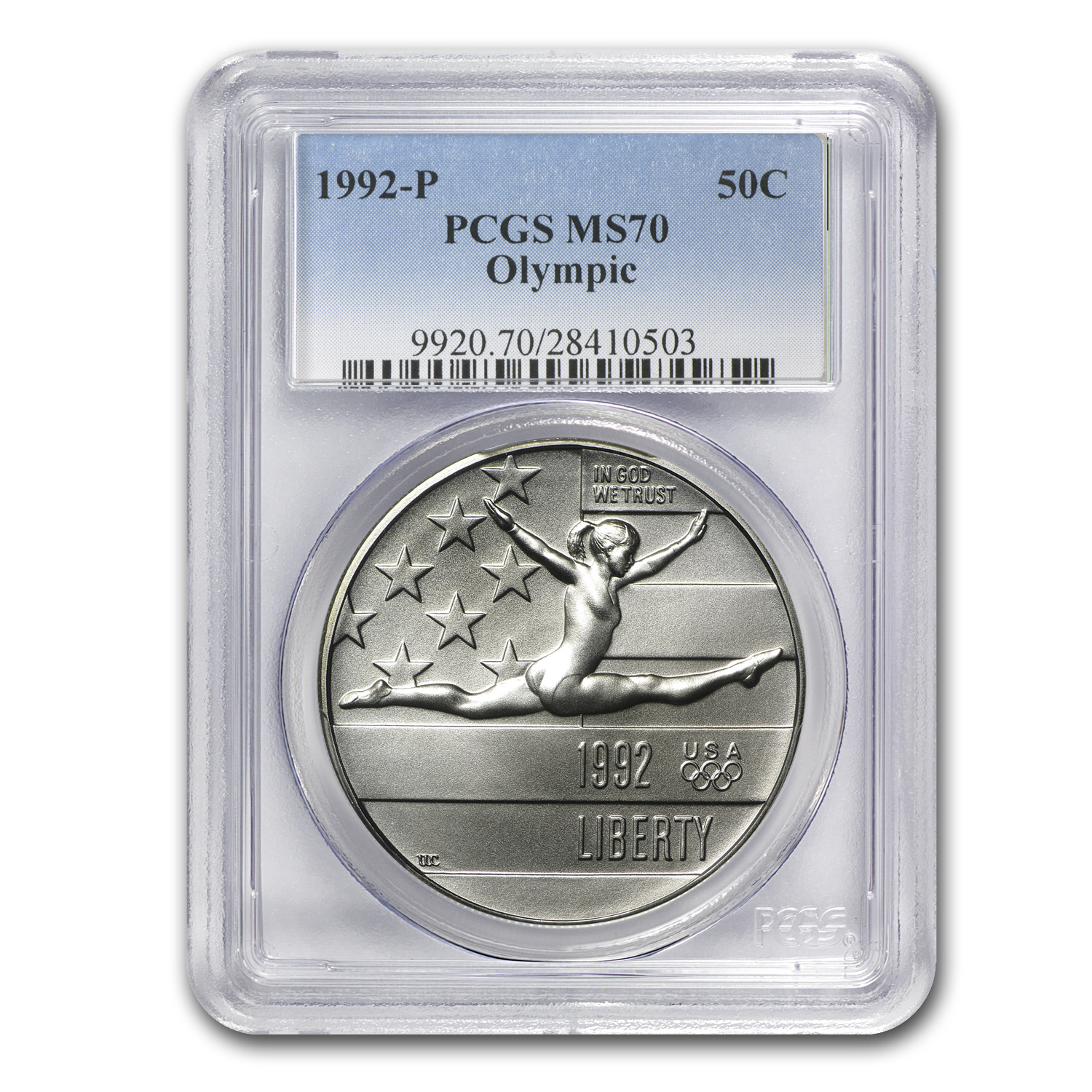 1992-P Olympic 1/2 Dollar Clad Commem MS-70 PCGS