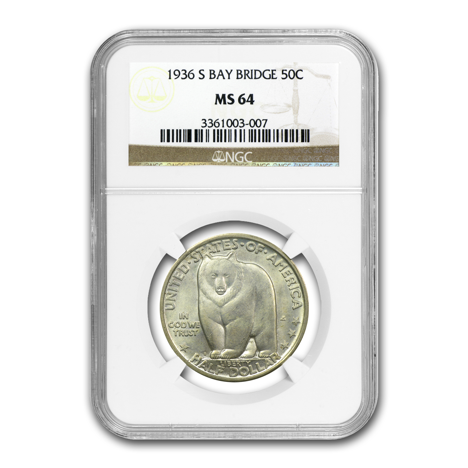 1936-S Bay Bridge Half Dollar MS-64 NGC