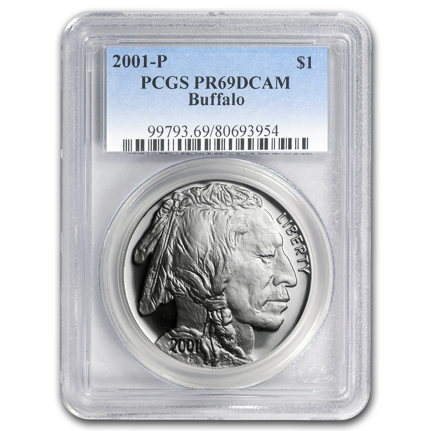 2001-P Buffalo $1 PR-69 PCGS DUPLICATE SKU of 98968